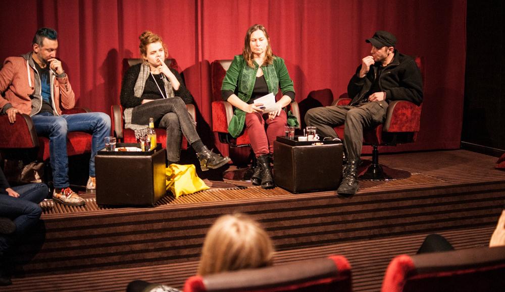 Diskussion mit den Festivalgaesten